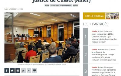 La Montagne – Conférence : Quel traitement judiciaire pour les personnes atteintes d'un trouble?